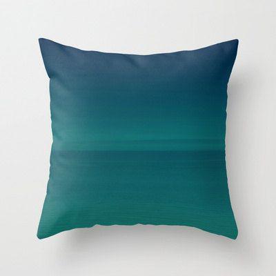 PIllow Cover Blue Ocean Ombre Blue