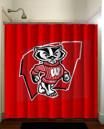 Wisconsin Badgers Logo Mascot Red With Images Cool Shower