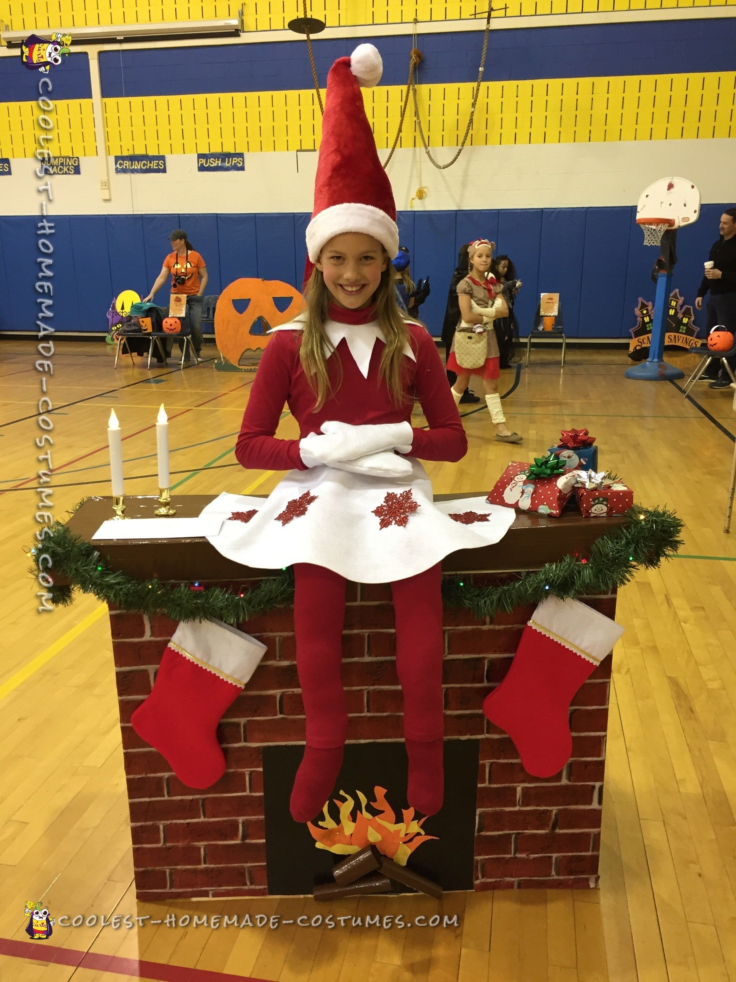 Elf on a Shelf DIY Illusion Costume fun kid costumes