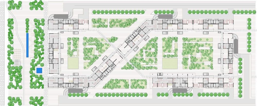 Pin By Osama On Architecture Residential Building Plan Residential Complex Urban Design Plan