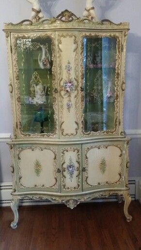 Shabby Romantic Vintage Hand Painted Italian..this Is A Good One!! Painted  ArmoireFrench FurniturePaint ...