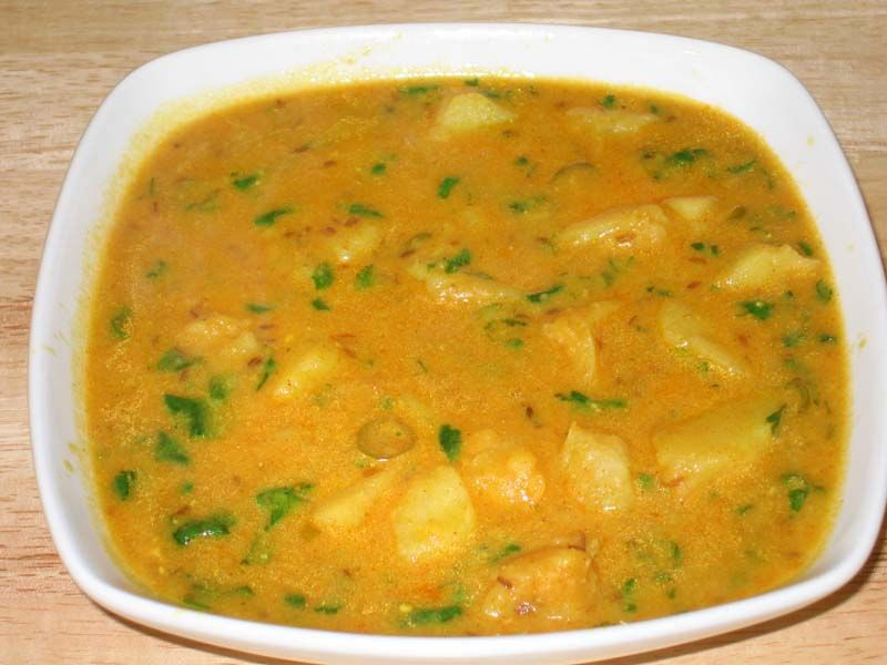 Potato curry with yogurt gravy manjulas kitchen indian potato curry with yogurt gravy manjulas kitchen indian vegetarian recipes cooking videos forumfinder Image collections