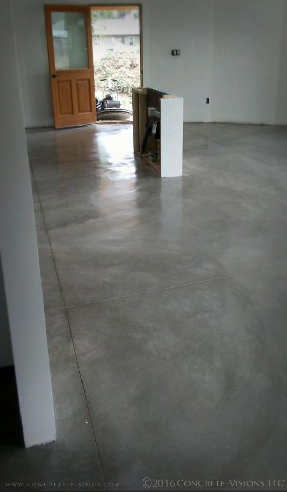The Main Level Of This Unique Round Home Has Been Sealed Burnished Provided A Similar Look To Polished Concrete At Flooring Smooth Concrete Concrete Floors