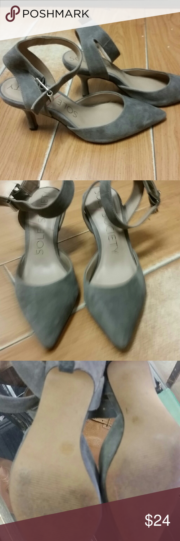 Sole society heels These suede shoes are the cutest ever! Heel: 2.5 inches Sole Society Shoes Heels