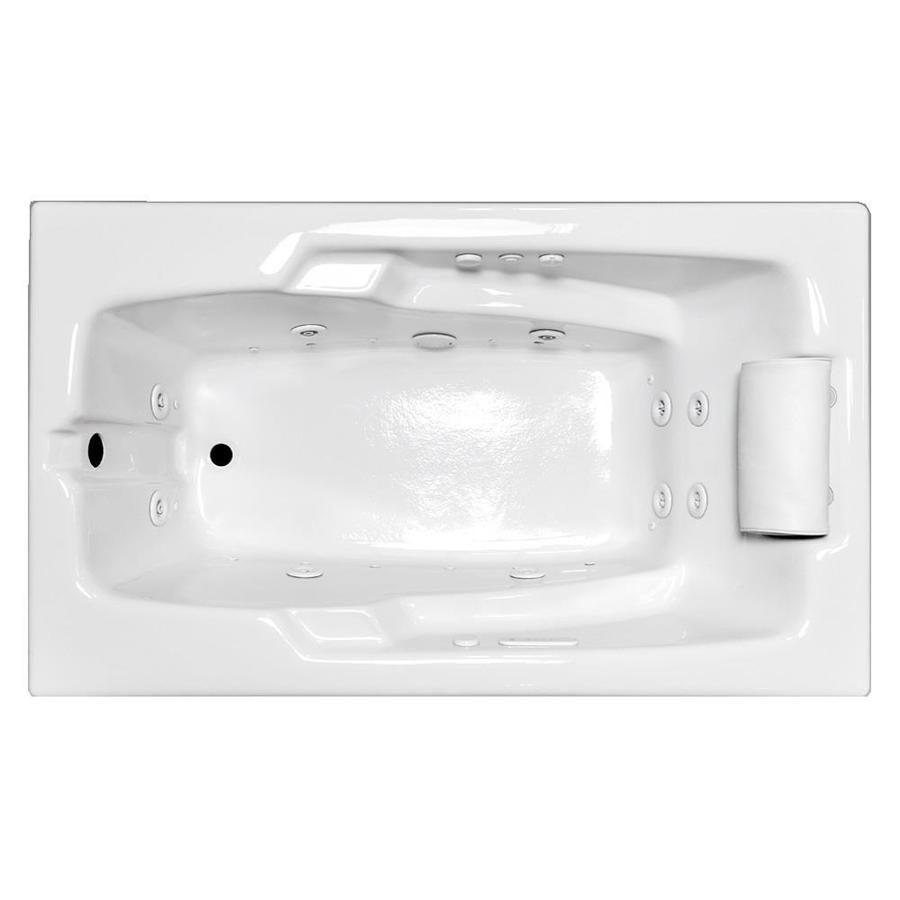 Laurel Mountain Mercer VII 66-in White Acrylic Drop-In Whirlpool Tub ...