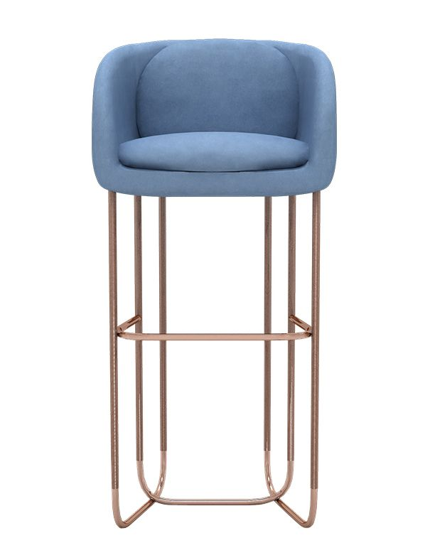 Modern Furniture Utah utah bar stool - mid-century / modern metal, upholstery / fabric