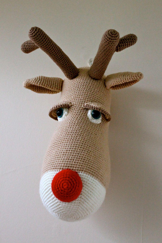 Pdf pattern for randolph the reindeer crochet amigurumi pattern bankloansurffo Choice Image