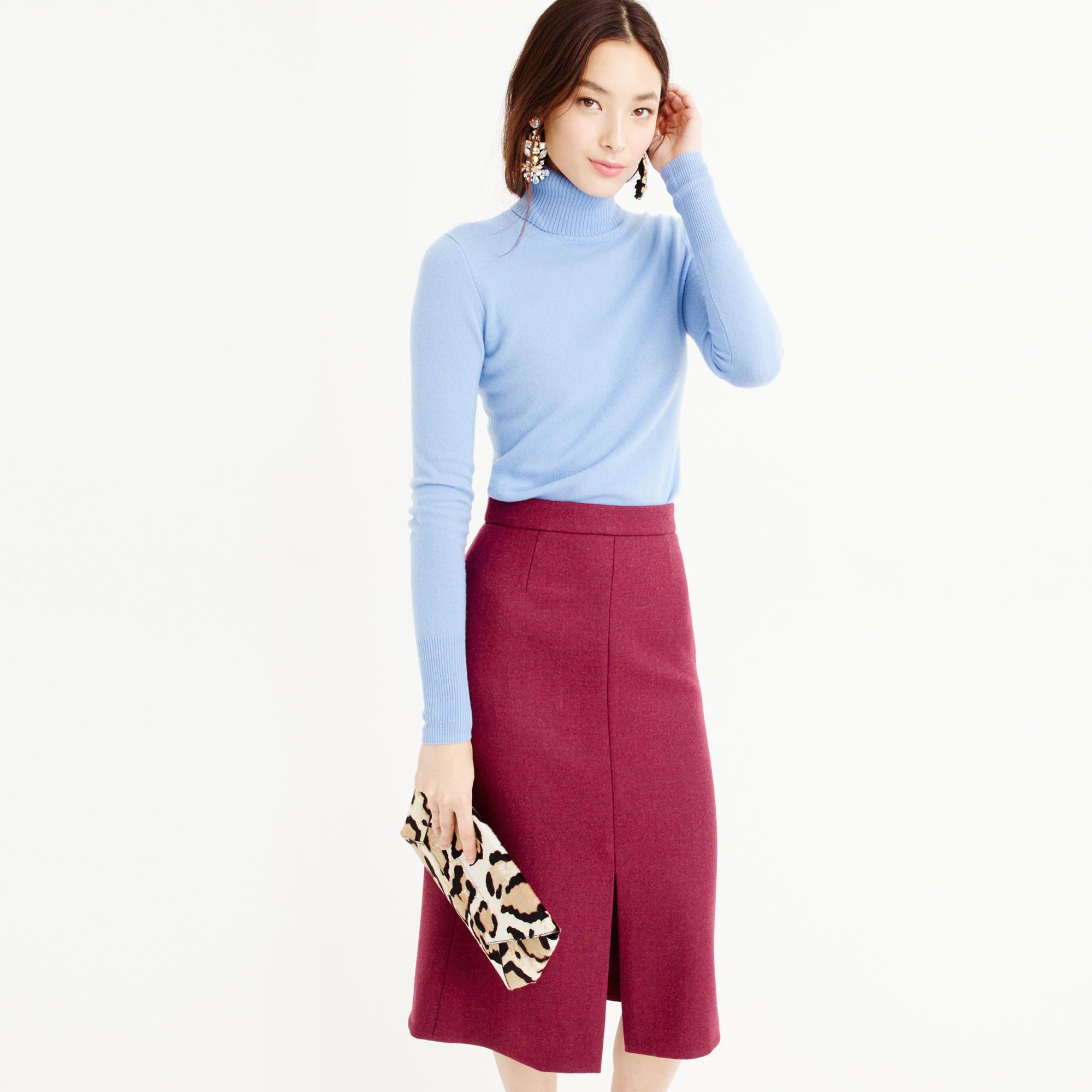 0f740978a5 A-line midi skirt in double-serge wool : A-line/Midi | J.Crew ...