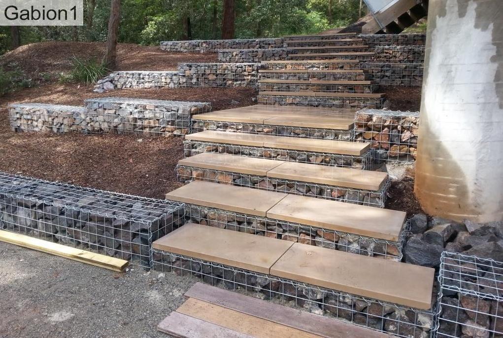 Gabion Steps And Small Retaining Walls Http Www Gabion1 400 x 300