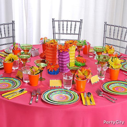 Casual Fiesta Wedding Party Decoration Ideas in Bright Colors - Party City & Casual Fiesta Wedding Party Decoration Ideas in Bright Colors ...