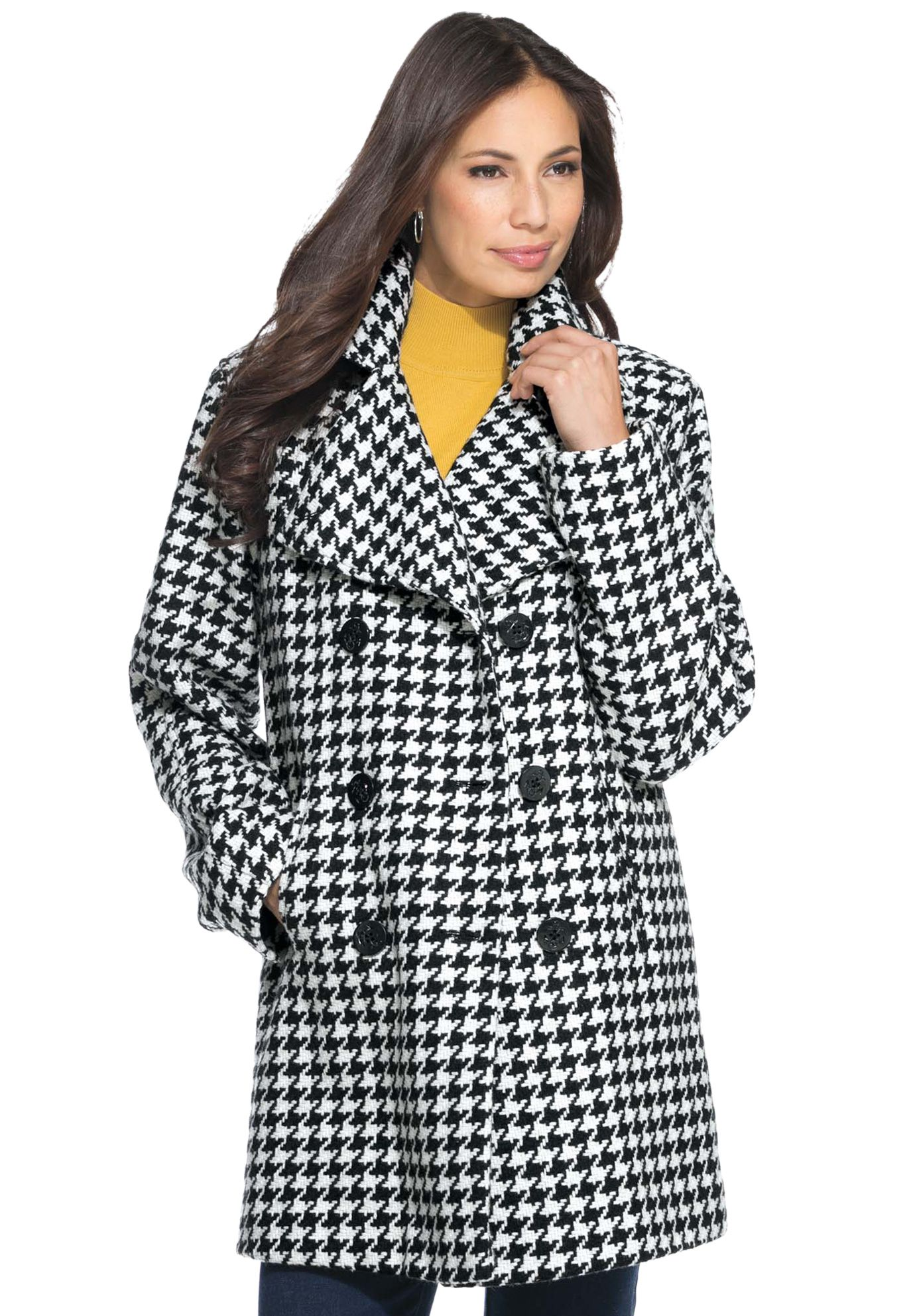 Wool-Blend Pea Coat | Plus Size Coats & Jackets | Jessica London ...