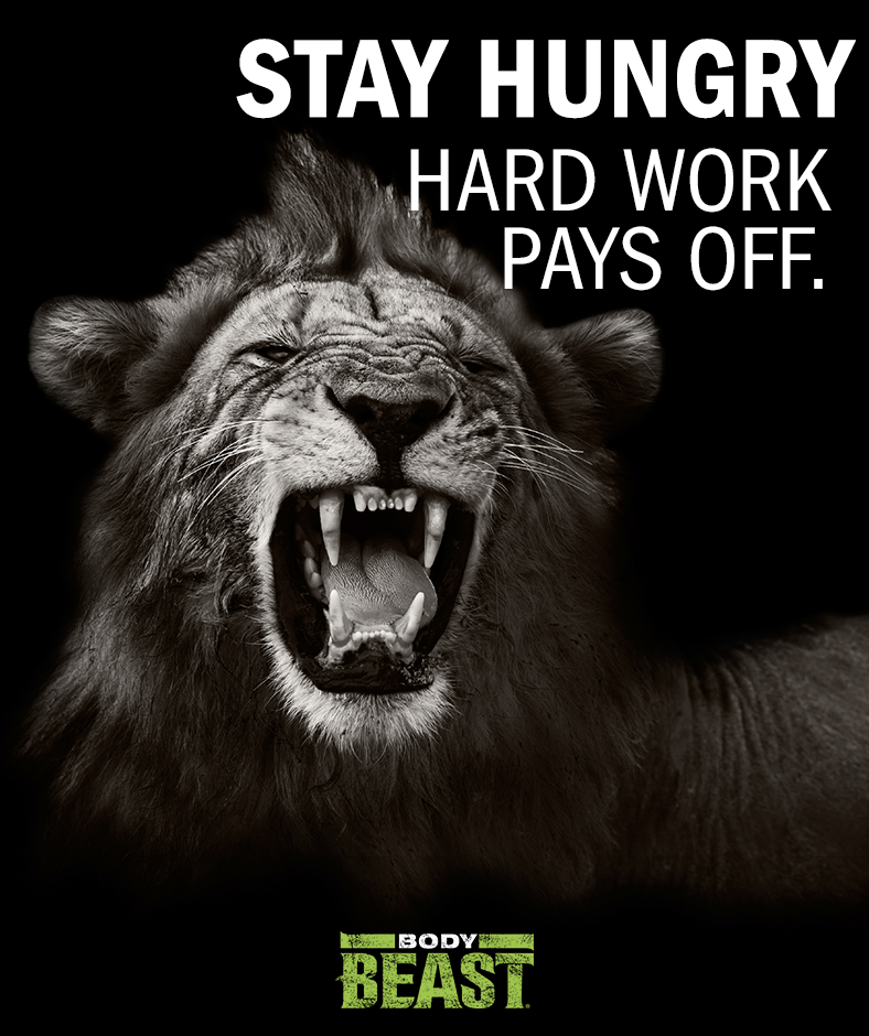 Workout Towels With Sayings: Stay Hungry...hard Work Pays Off