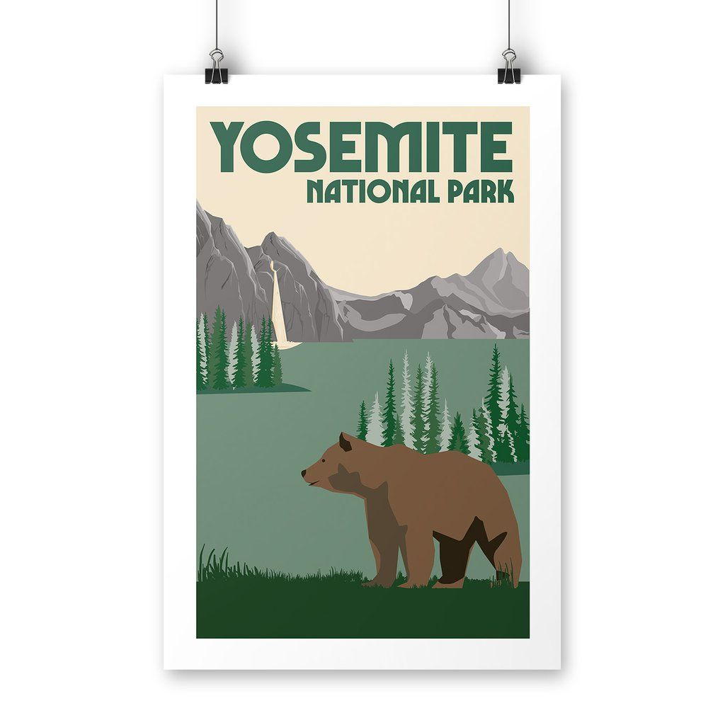 National Park Posters Yosemite National Park Poster: Yosemite National Park Poster