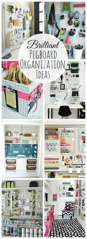 Photo of So viele Möglichkeiten, deine Sachen mit Pegboard zu organisieren! Stilvoll, funktional und …