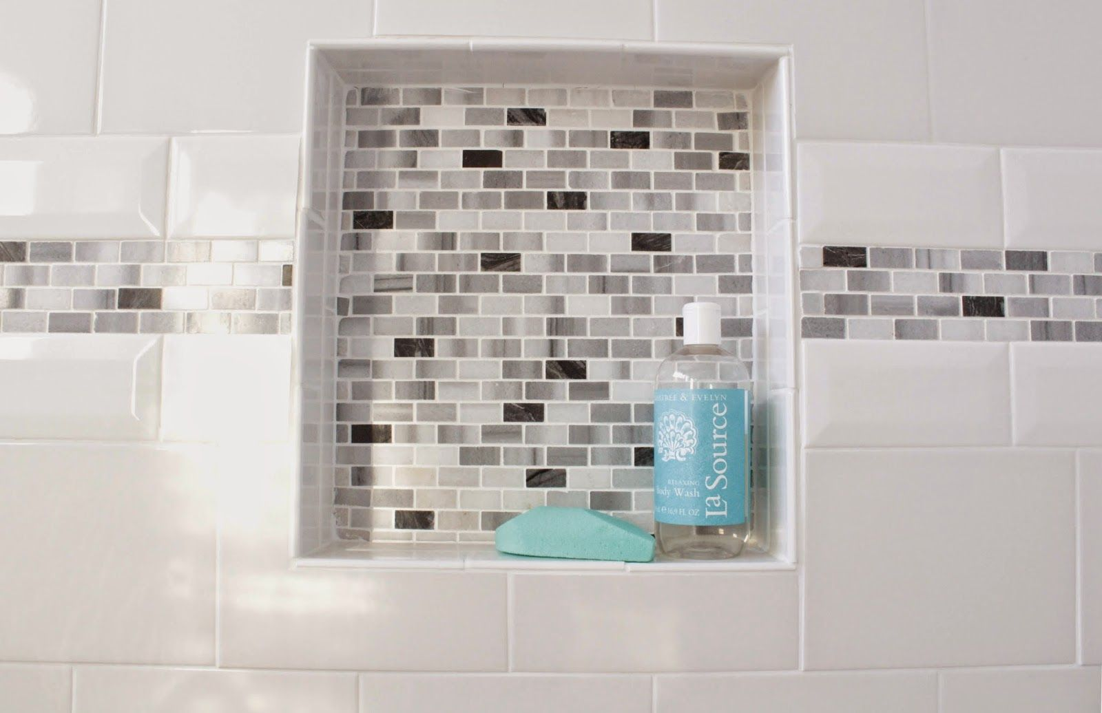 Us ceramic tile color collection bright snow white subway tile us ceramic tile color collection bright snow white subway tile with durock 16 in x 16 in x 4 in shower niche tiled with daltile snow illu pinteres dailygadgetfo Images