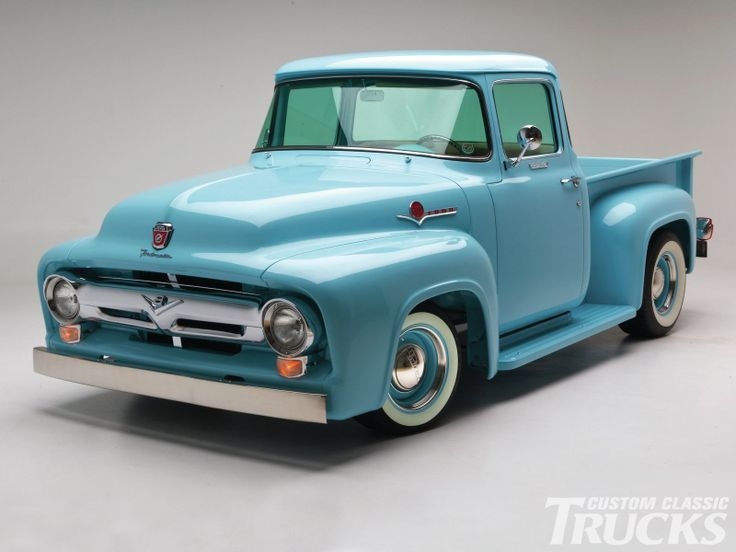 1956 Ford F100 Light Blue Pick Up Truck Classic Trucks Ford