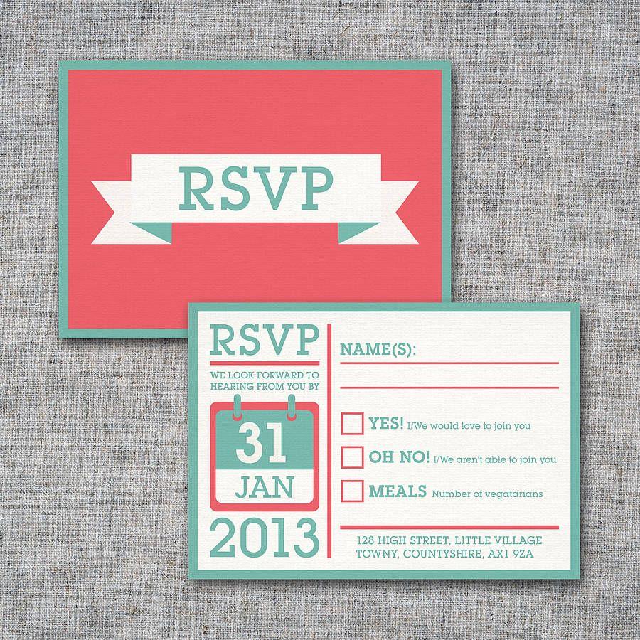 Personalised Block Wedding Stationery   Pinterest   Rsvp, Wedding ...