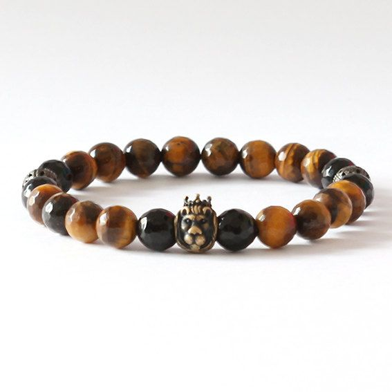 King Lion / Onyx & Tiger's Eye Bronze Lion Bracelet Black pearl silver skull bracelet #onyx #limited #tigereye #lion #mensfashion #luxury #naturalstone #bronze #bracelet #fashion #cool #mensbracelet #handmade #handmadejewellery