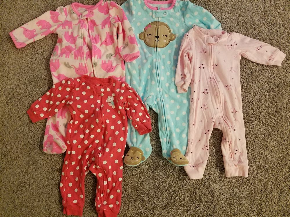 5T Butterfly Footed Pajama or Fleece Sleeper NWT CARTER/'S® Toddler 4T