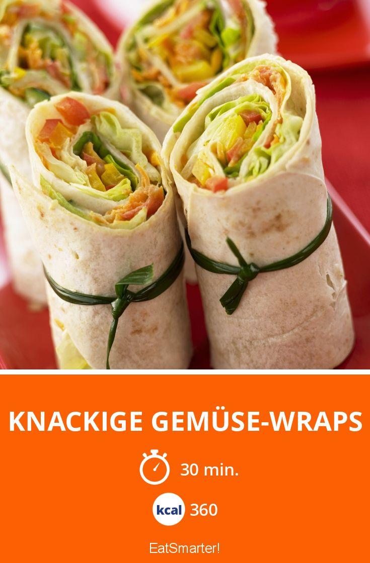Knackige Gemuse Wraps Rezept Rezepte Lebensmittel Essen Einfache Gerichte