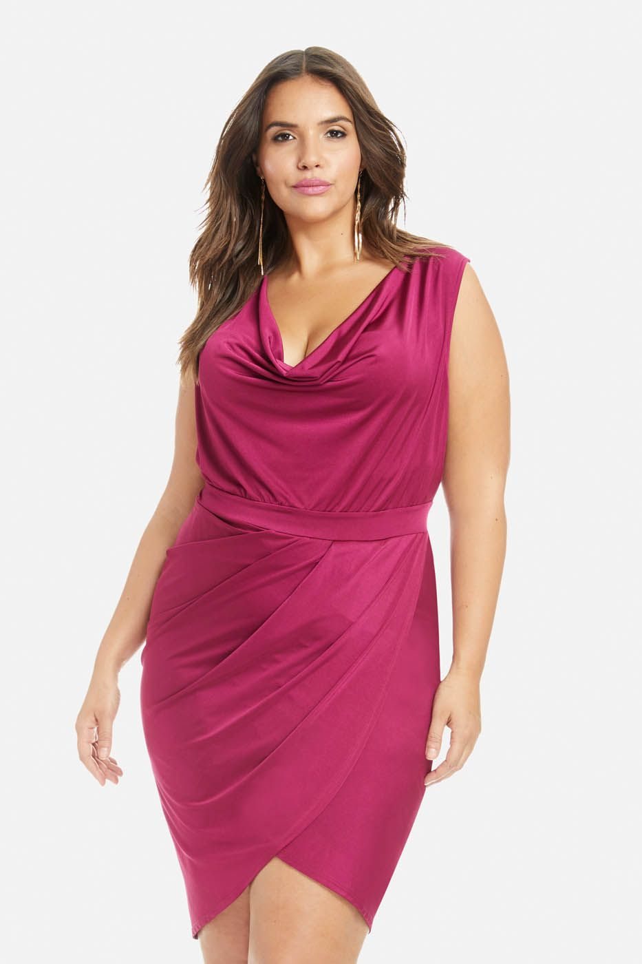 3f091ecac10d Plus Size Bailey Draped Dress | Sophisticated Sexy Lifestyle ...