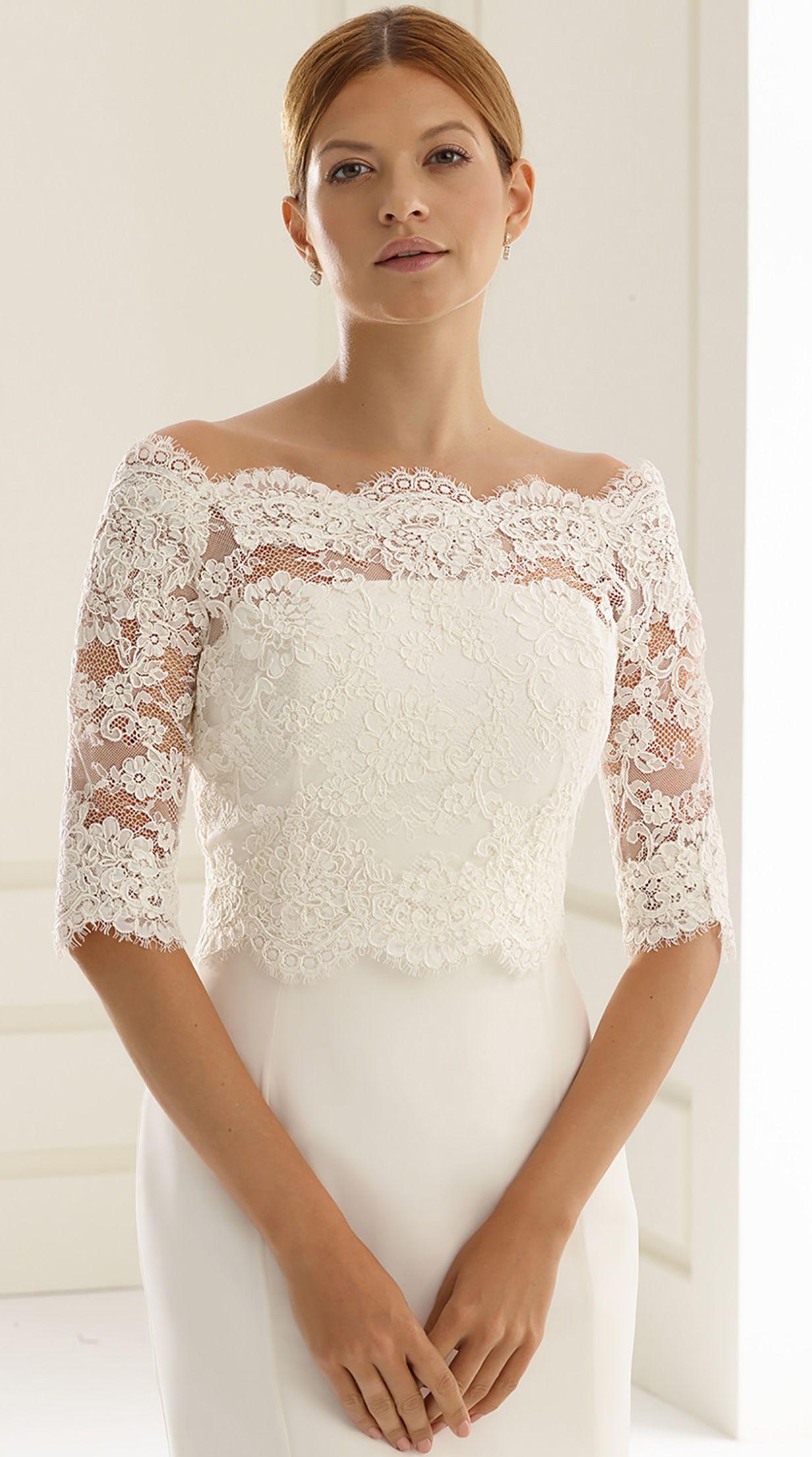 96def96ad7 Stunning bolero E237 from Bianco Evento #biancoevento #bolero #weddingdress  #weddingideas #bridetobe