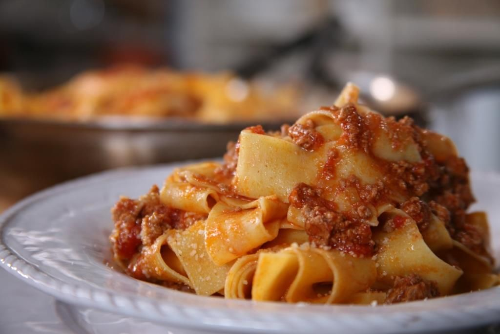 Just wanted to share this delicious recipe from Lidia Bastianich with you - Buon Gusto! Meat Sauce Bolognese