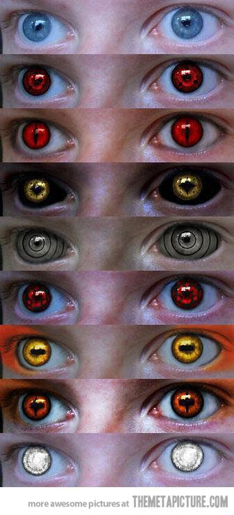 Naruto Contact Lenses Cool Makeup Naruto Eyes Naruto