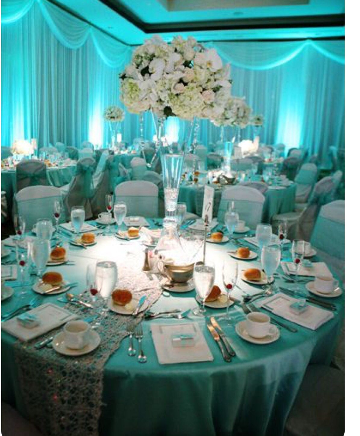 Tiffany Blue Setting Tiffany Blue Wedding Theme Blue Themed Wedding Tiffany Blue Wedding