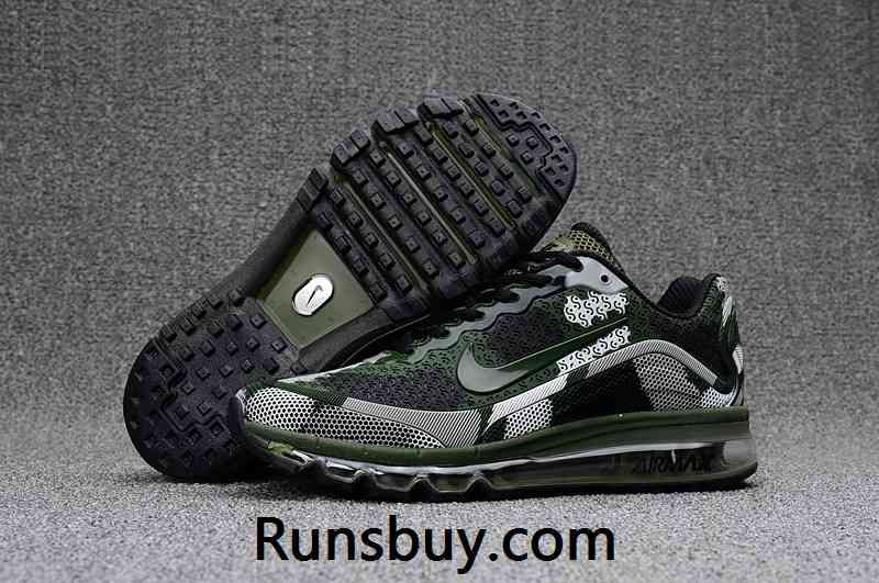 the latest 26dd8 53a44 New Coming Nike Air Max 2017 8+ KPU Men Shoes Camo Green