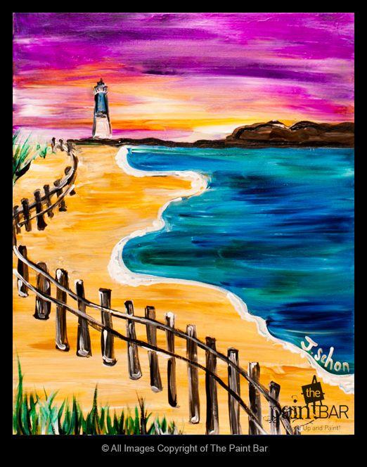Beach Light House Painting
