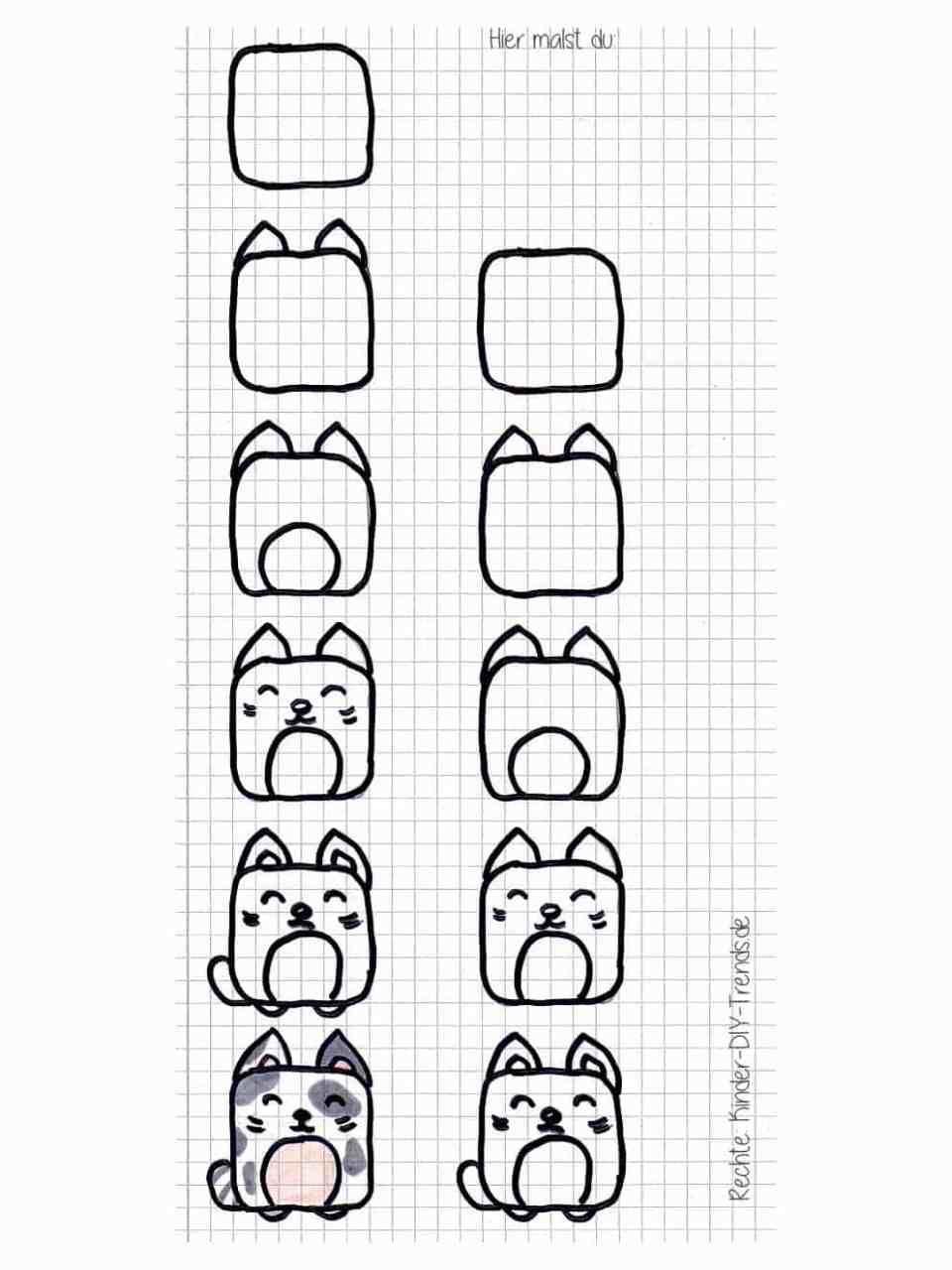 Square Animals Zeichnen Do It Yourself Trends Fur Kinder Kinder Zeichnen Zeichnen Lernen Zeichnen Lernen Fur Kinder