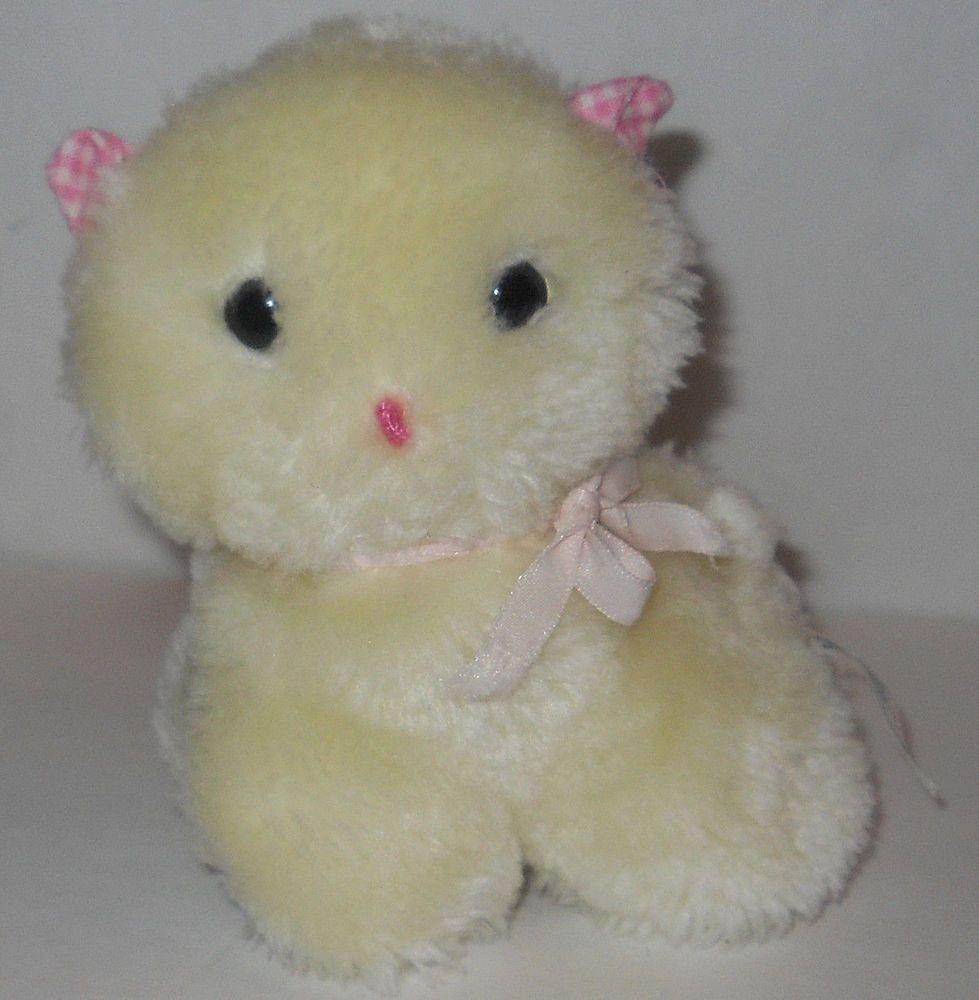 Easter Eden Kitten Cat Lamb 6 Stuffed Plush Lovey Rattle Baby Toy Korea Vtg Eden Cats And Kittens Baby Toys Toys