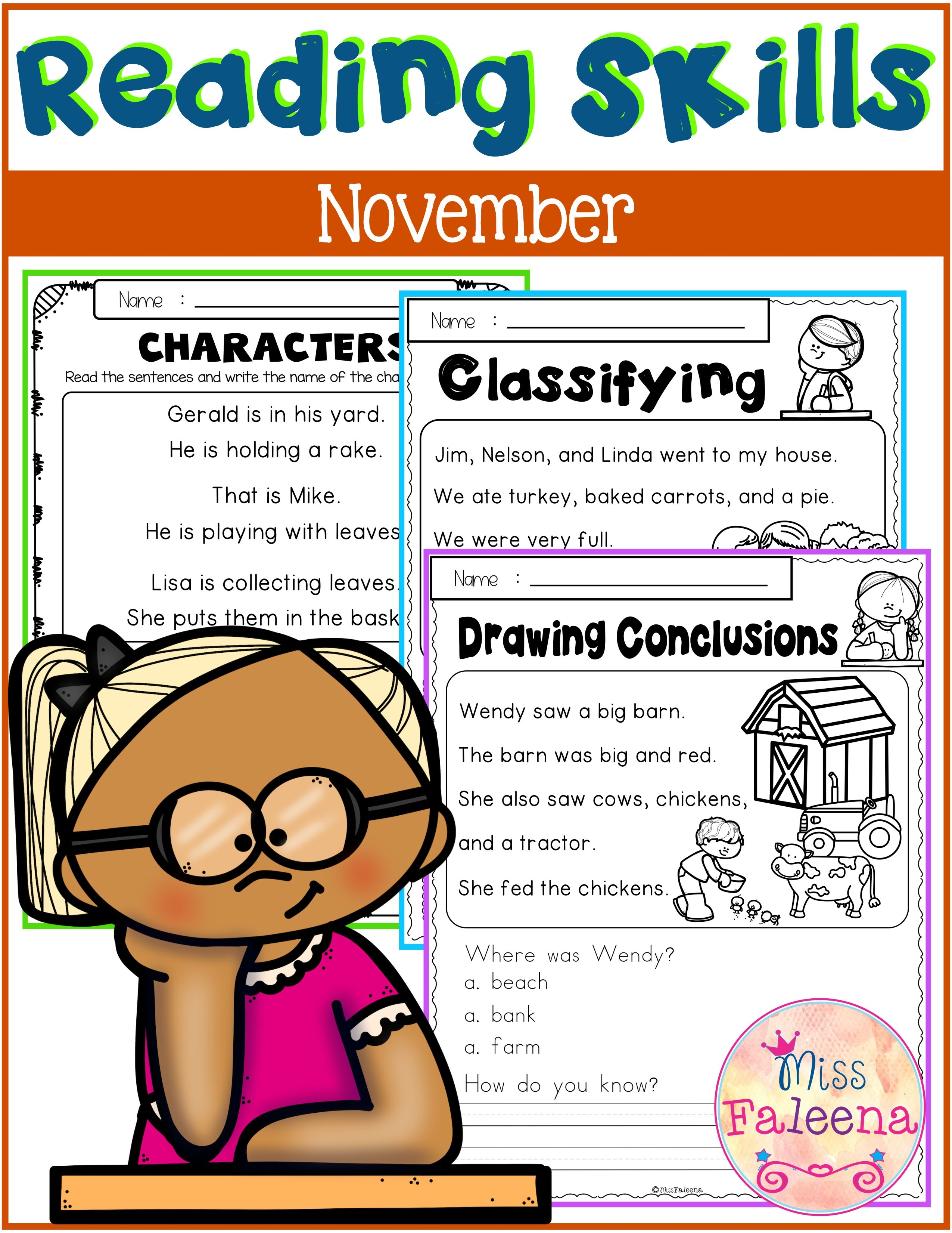 November Reading Skills