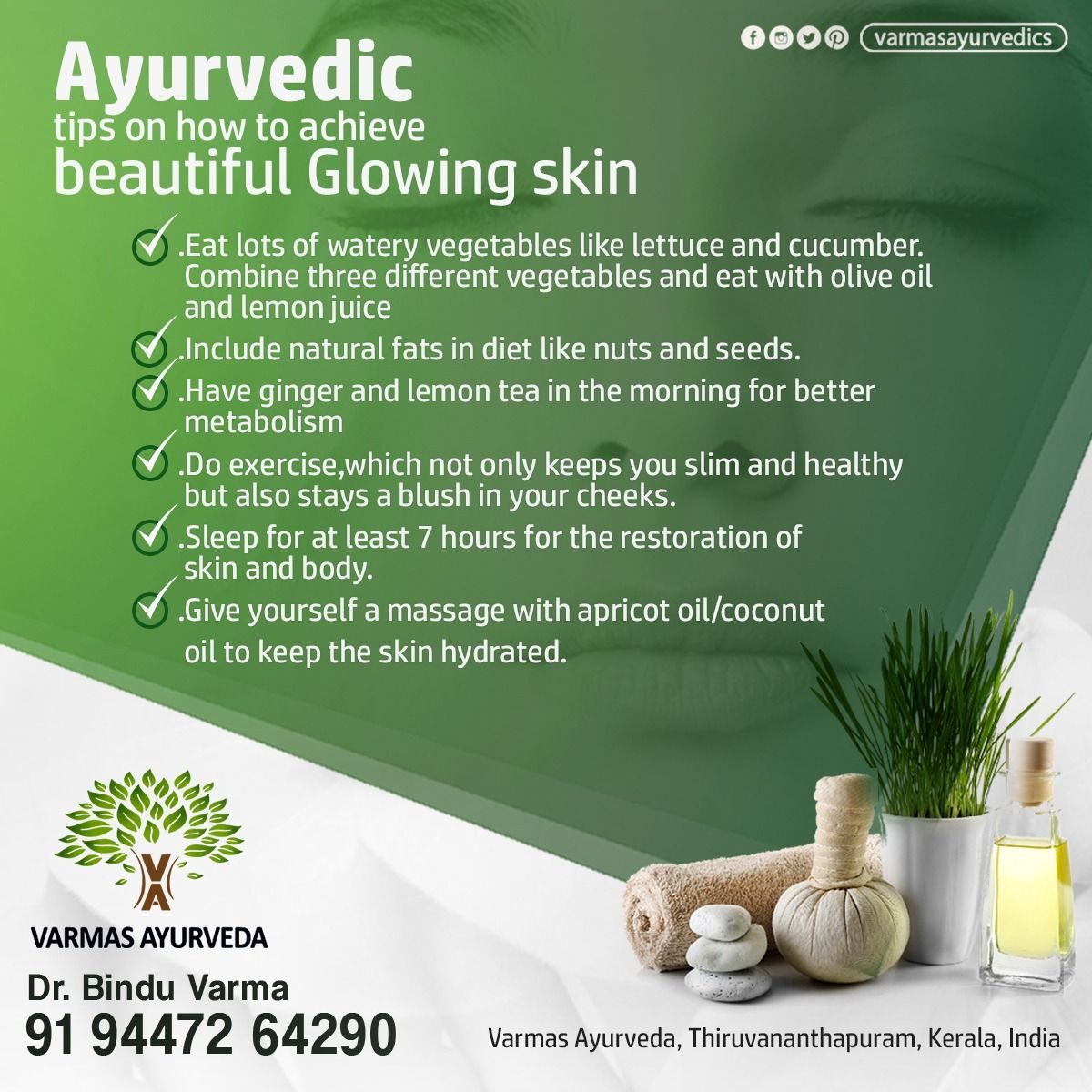 Ayurvedic Tips for Beautiful GLOWING SKIN!!!! Get a better skin