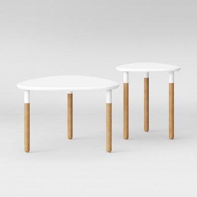 Madsen Accent Table Set White Natural Project 62 Table