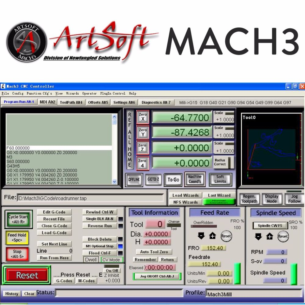 Buy English French Engraving Control Cnc Software Artsoft Mach3 W Vfd Wiring Diagram License For Lathes Mills Routers Lasers Plasma Engraver