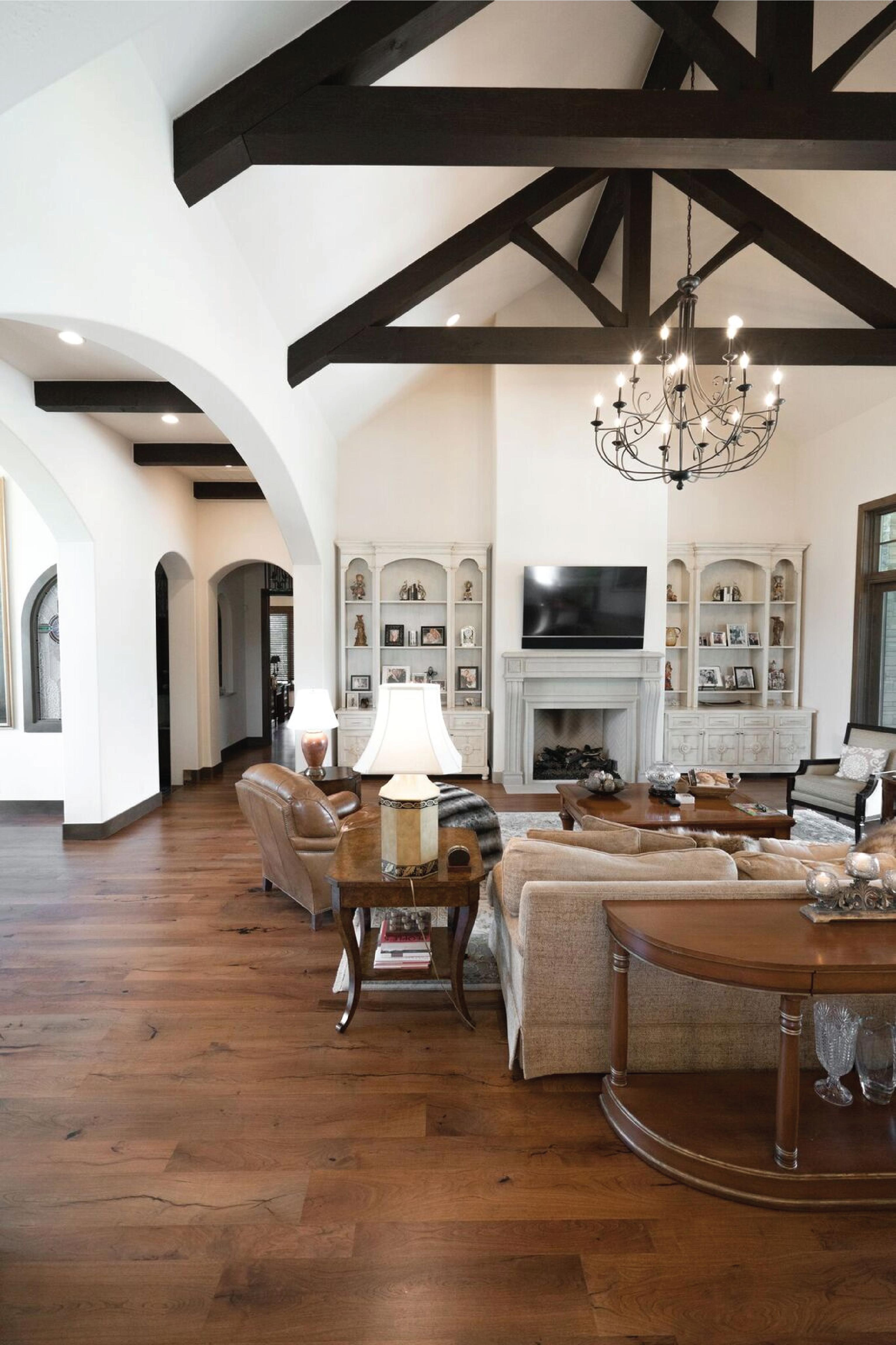 Austin Home With Texas Mesquite Hardwood Floors Living