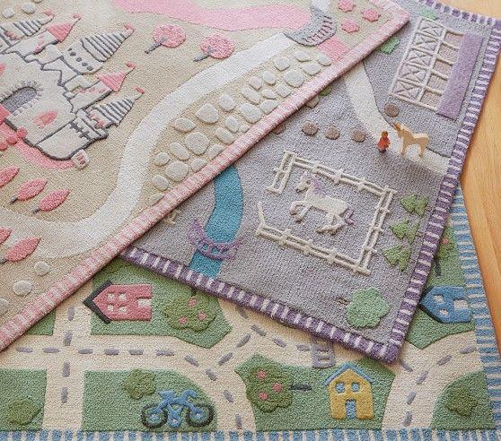 Castle Rug Pottery Barn Kids Pink And Gray Princess