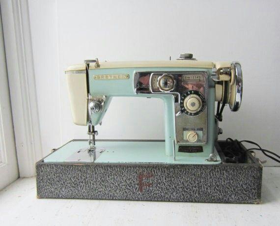 Aqua Brother Model 210 Vintage Sewing Machines Sewing Machine Brother Sewing Machines