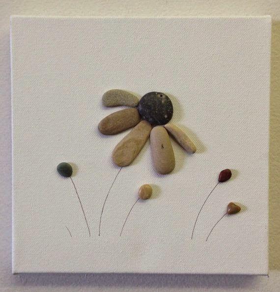 50 pebble art 8 x 8 canvas original beach stone artwork solutioingenieria Image collections