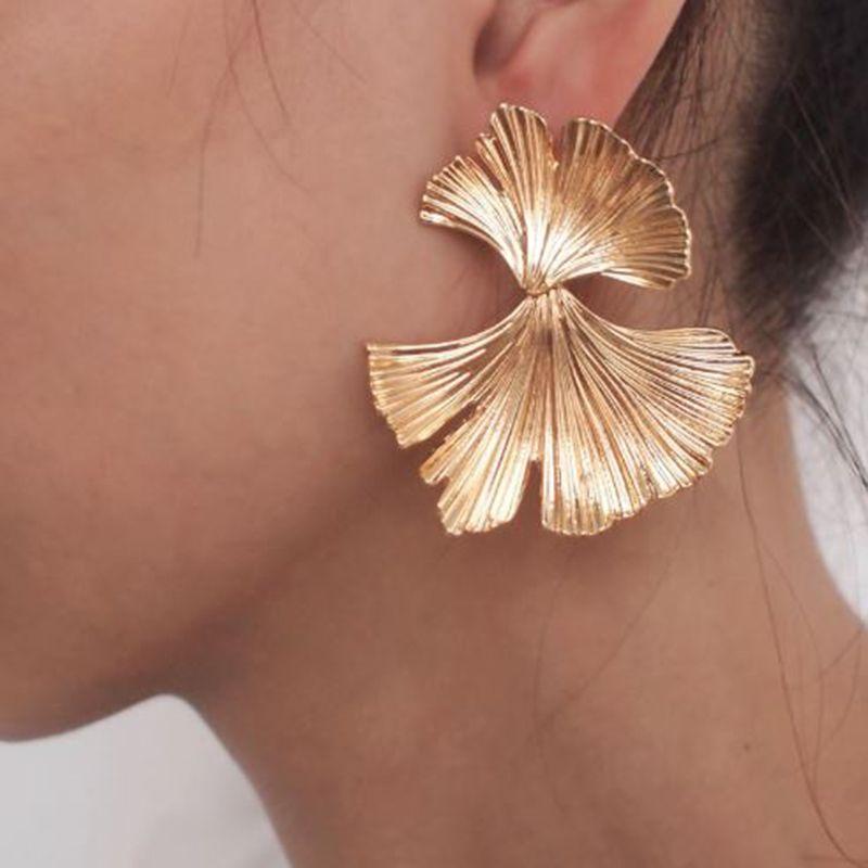 Femmes Boucles Oreilles Bijoux Géométriques Forme Feuille Simple Vintage Elégant