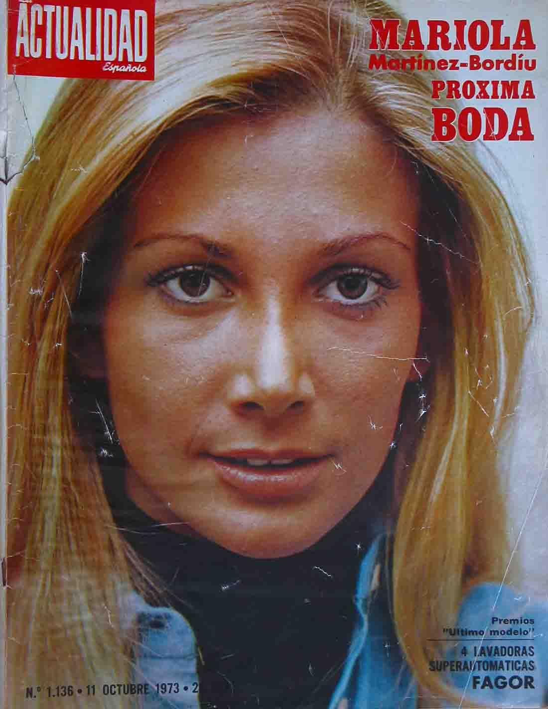 1973-10-11 Mariola Martinez Bordou, hija de los marqueses ...