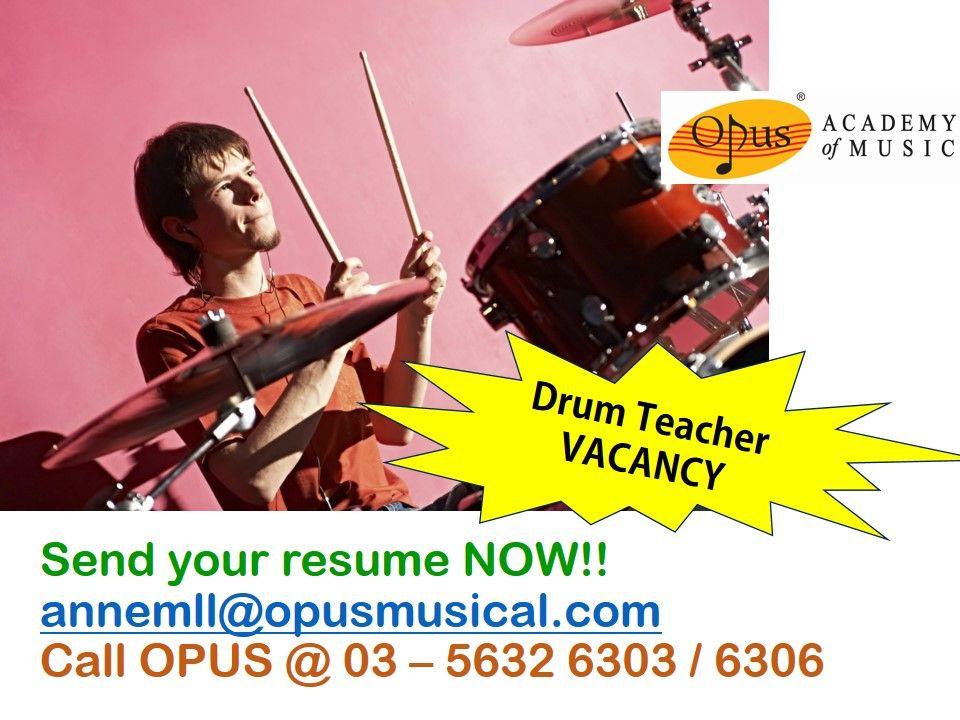 Vacancy Drum Teacher Location Bandar Sunway Pj Music School Seeking For Drum Teacher With Images Interpersonal Communication Skills Teacher Vacancy Music Education