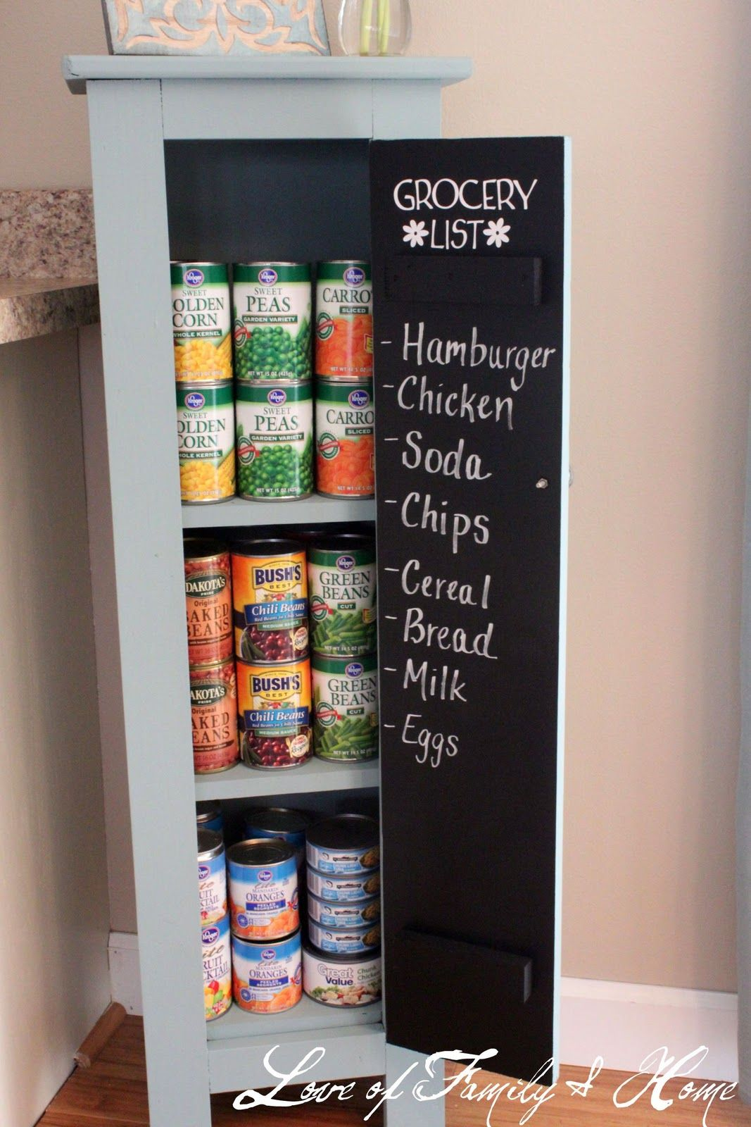 Small Pantry Cabinet Makeover   With Chalkboard Paint!