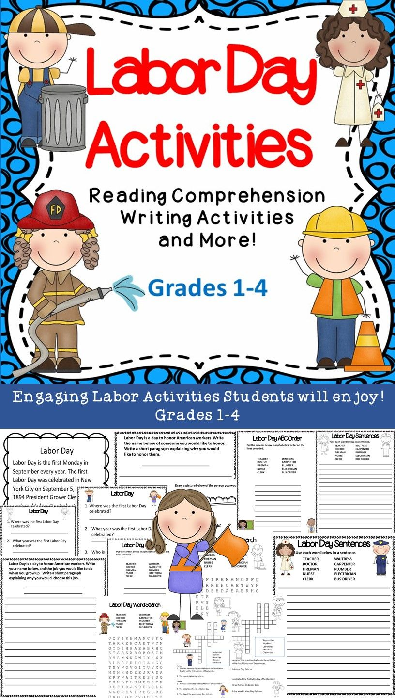 This Labor Day Activity package includes activities to teach students about  the importance of this holiday.…   Writing activities [ 1440 x 816 Pixel ]