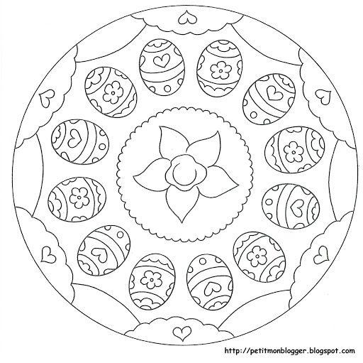 Mandales Pasqua Mandala Coloring Pages Easter Coloring Pages Mandala Coloring Books