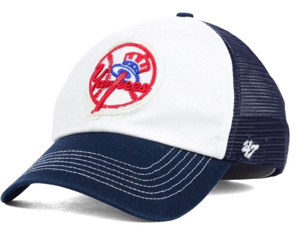 a10bb8f42ee New York Yankees  47 Brand Privateer Closer Top Hat FlexFit L XL Mesh Cap  Hat  47Brand  NewYorkYankees
