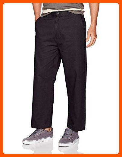 5186179d7d OBEY Men's Loiter Big fits Flooded Pants, Black, 38 - Mens world (*Amazon  Partner-Link)