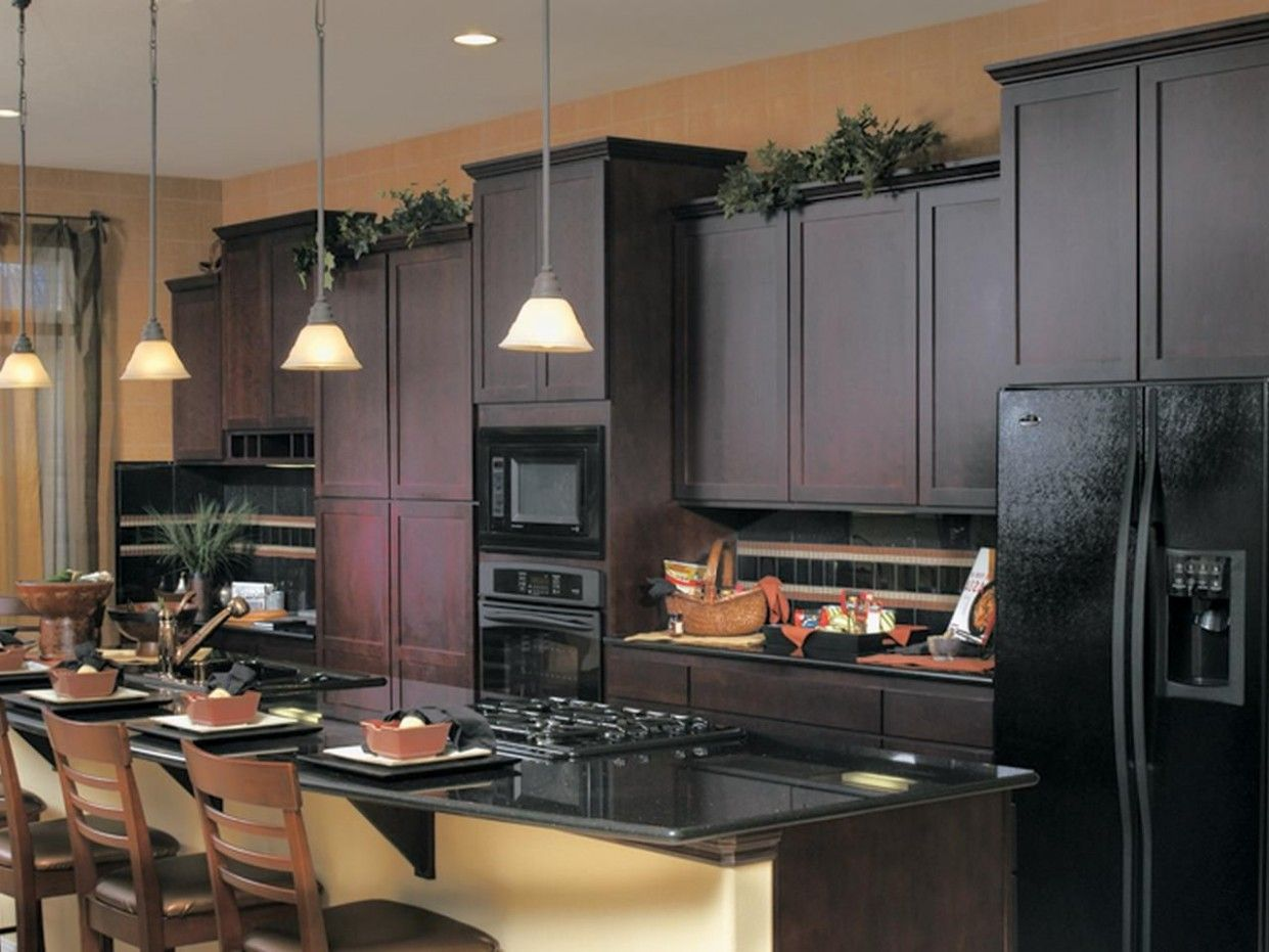 kitchen ideas with black appliances in 2020 kitchen cabinets with black appliances black on kitchen ideas with dark cabinets id=11864